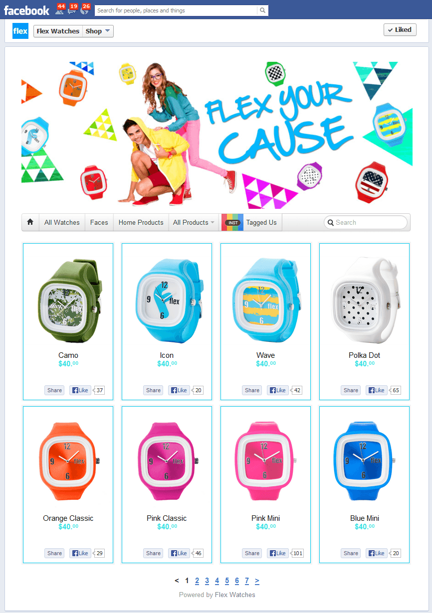 Facebook Shop of the Week – Flex Watches