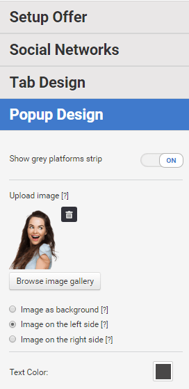 Adding an image to Coupon Pop
