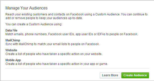 Facebook Ad Custom Audience