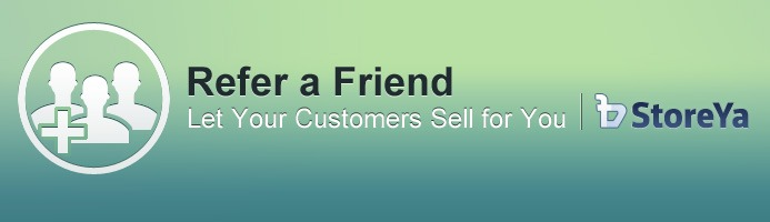 Refer a friend marketing tool by StoreYa