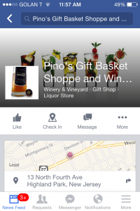 Facebook Mobile Business Page