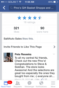 Facebook Mobile Business Page Reviews