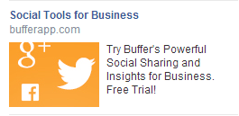 Example of Facebook ad copy