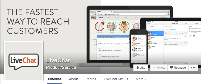 Facebook Livechat example