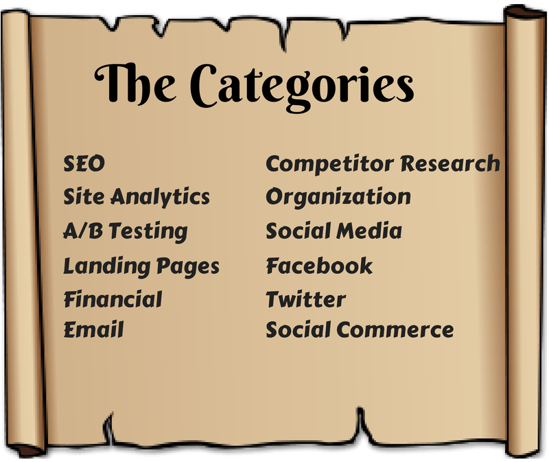 Small business tools categories