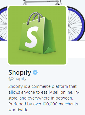 shopify twitter bio