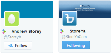 twitter handle storeya