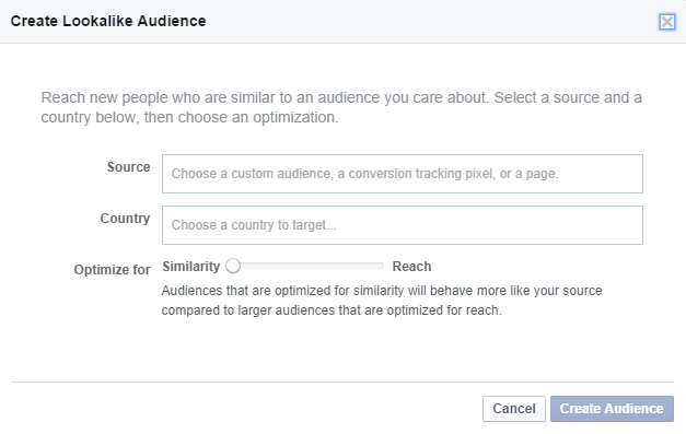 Lookalike Custom Audience Facebook