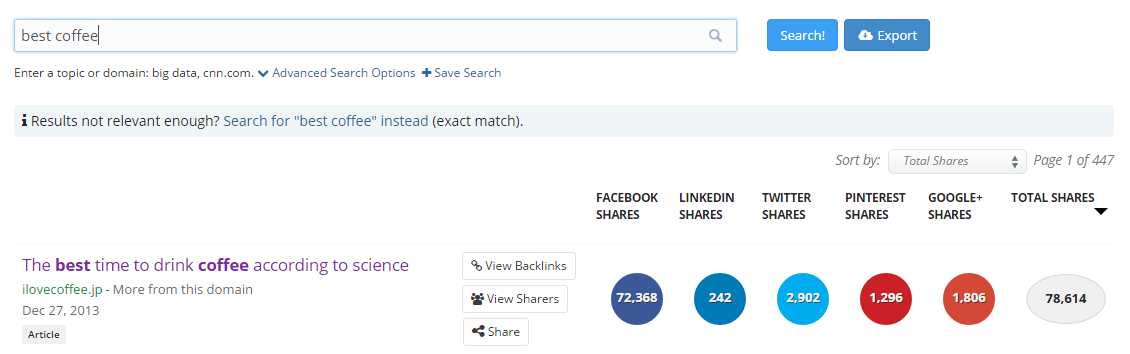buzzsumo to find influencers