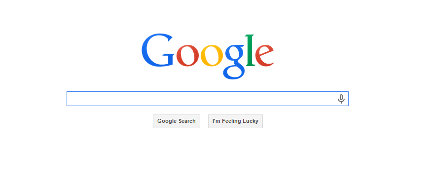 google homepage white space