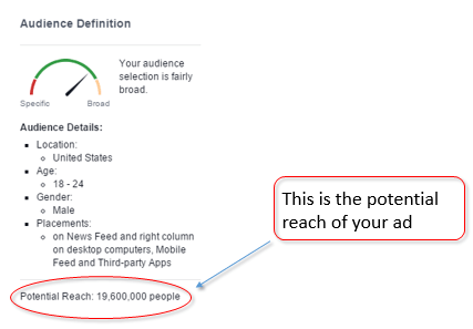 how to see potential reach facebook ad