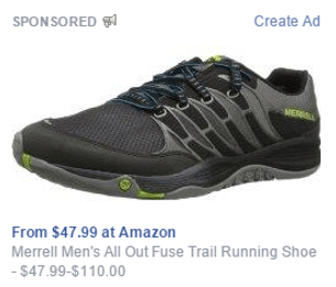 Facebook ad for ecommerce product