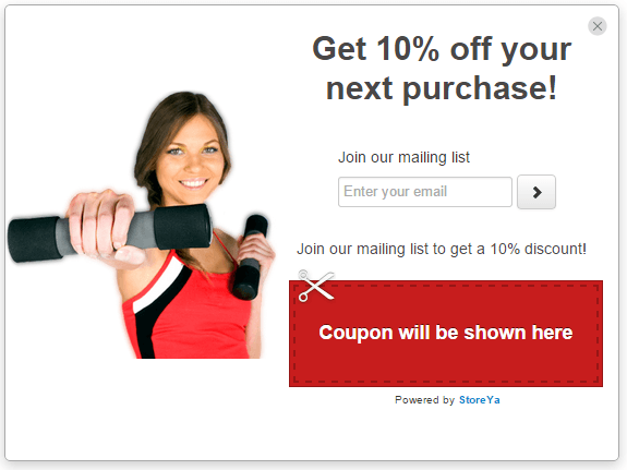 email opt in with personalized image