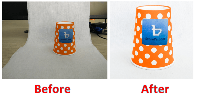 before and after edited product photo