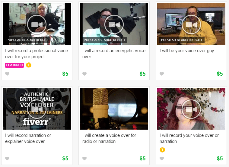 voice over artists on fiverr