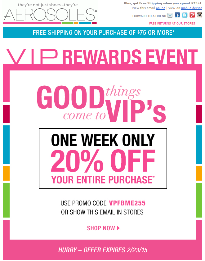 Example VIP customer email