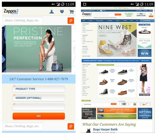 mobile vs non mobile ecommerce