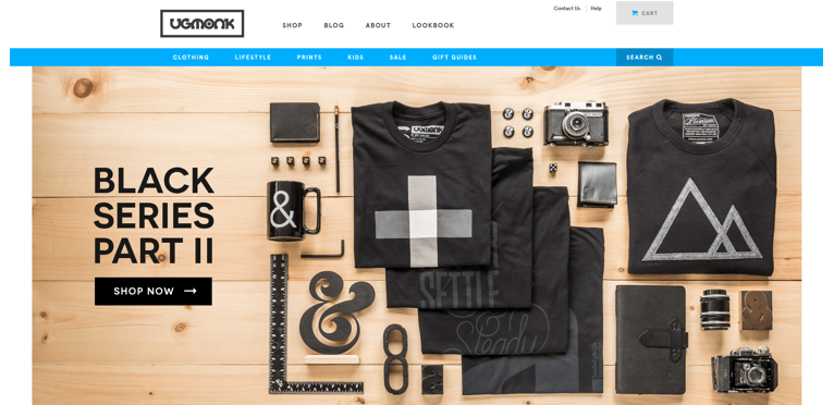 layout products design ecommerce
