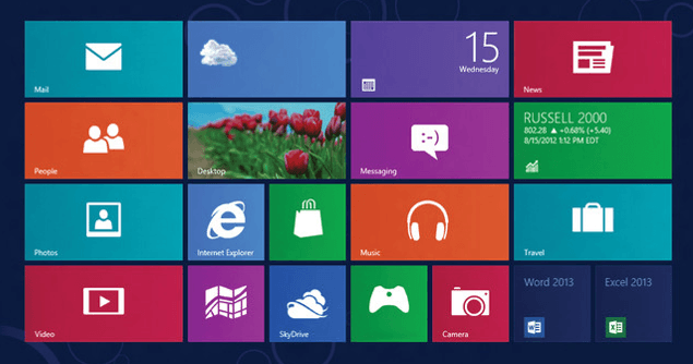 windows8 flat design