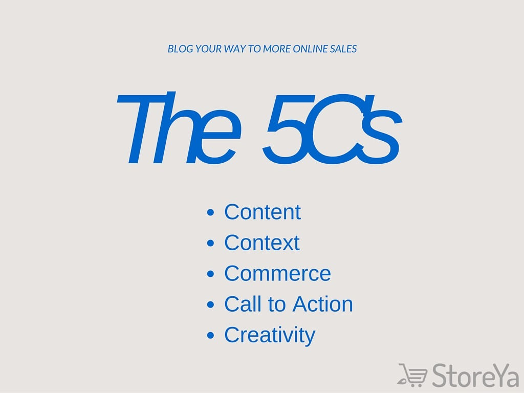 5C's to Increase online sales