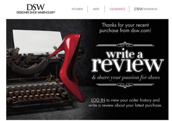 DSW-order-confirmation-email-reviews