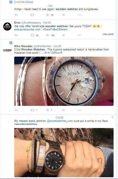 Twitter-keyword-wooden-watches