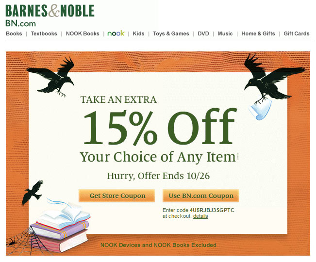 barnes-noble-halloween-email-template