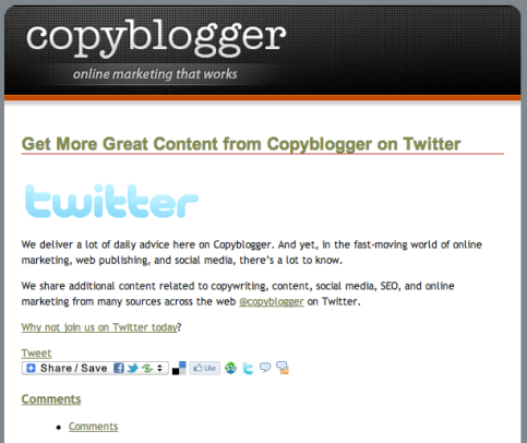 copyblogger-email-campaign-increase-social-followers