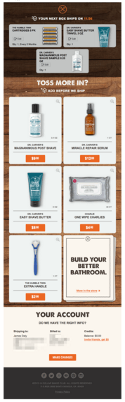 dollarshaveclub-upsell-order-confirmation-email