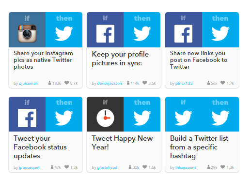 IFTTT increases productivity and Twitter ROI