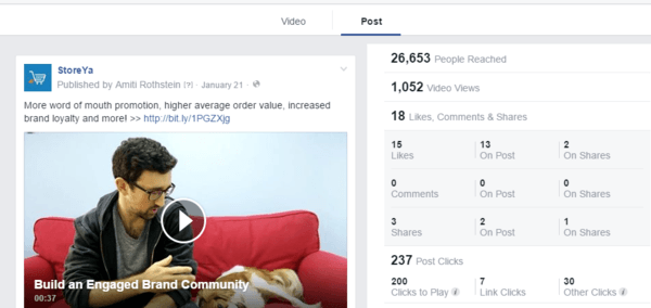 Use insights to understand Facebook video marketing efforts