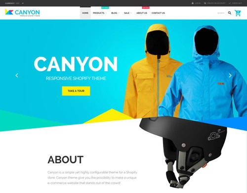 TemplateMonster Theme Canyon Shopify