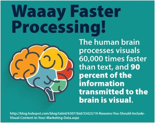 Our brains process images faster