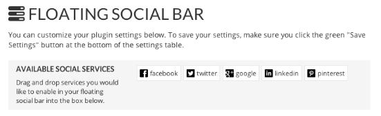 Floating Social Bar WP Plugin