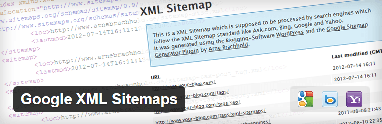 Google XML Sitemaps WP plugin