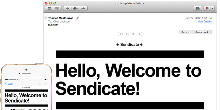 Sendicate Email Marketing Platform