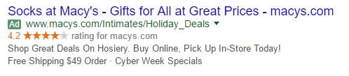 PPC ads for Christmas shoppers