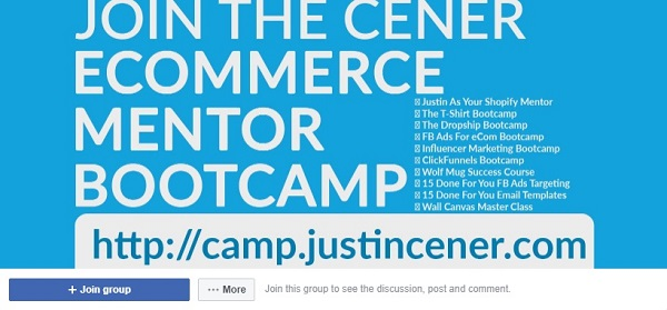 Cener ecommerce mentor bootcamp facebook group 2