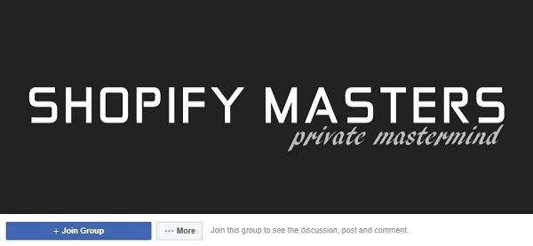 shopify masters facebook group for store owners 222
