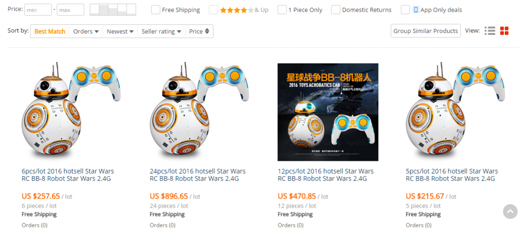 starwars on AliExpress