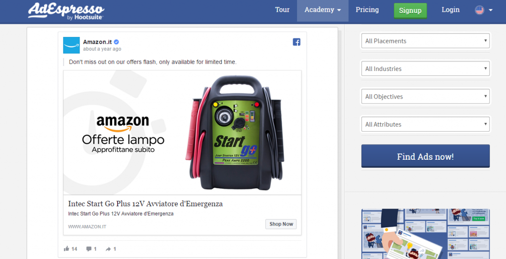 AdEspresso on Amazon