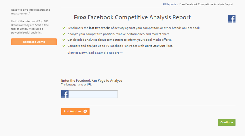 Free Facebook Competitive Analysis Report