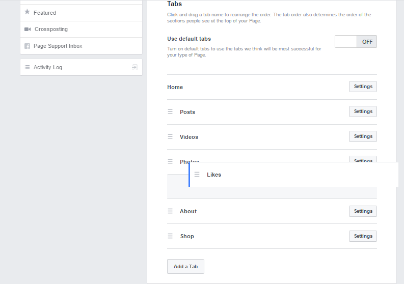 How to change Facebook tags