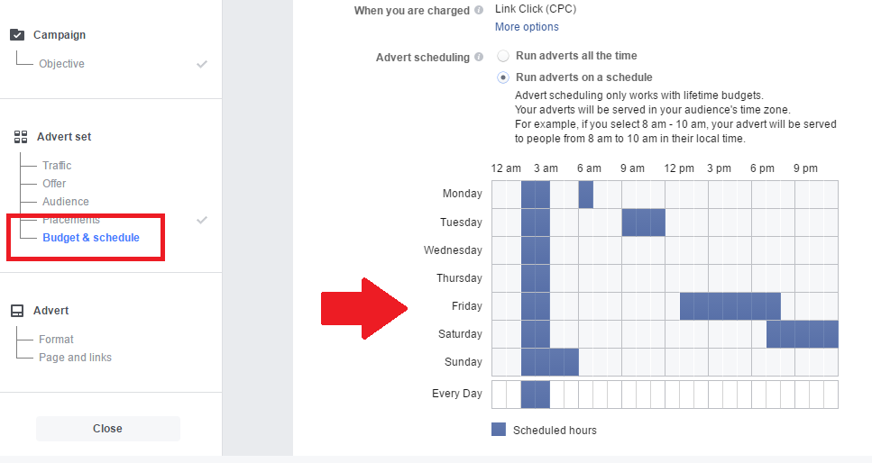 Facebook Ad Schedular
