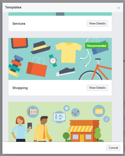 Facebook Shop Template