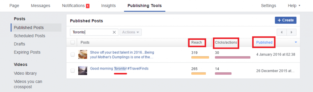 Facebook Search Post by topic