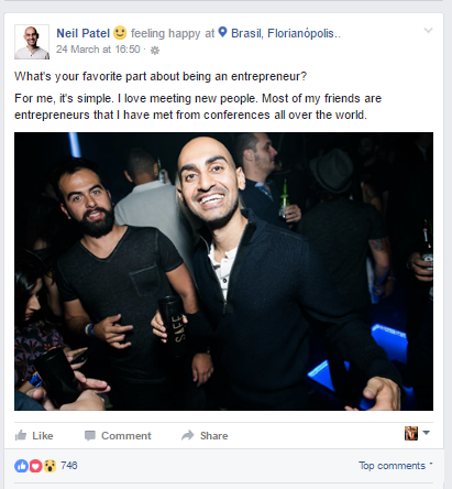 Neil Patel on Facebook