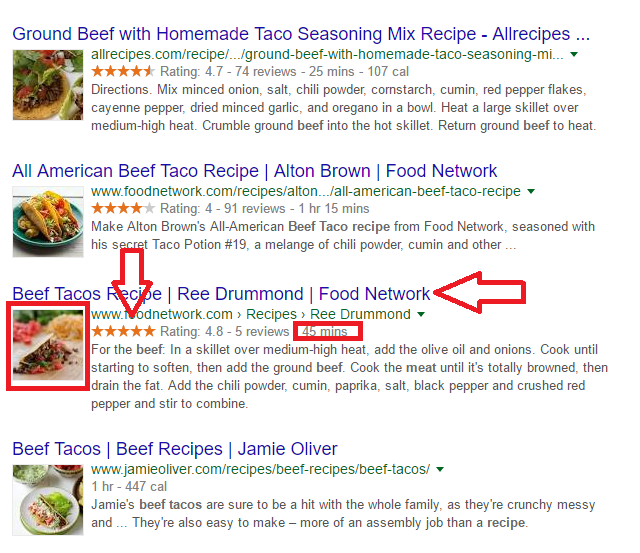 search listing example