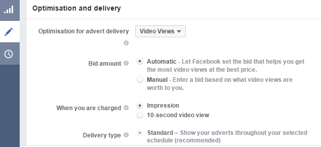 Facebook Ad Bidding selection