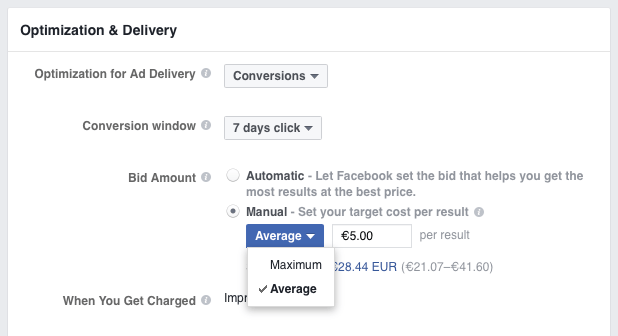 Manual Facebook ad bidding